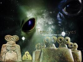 معبد العيون و التماثيل الغريبة